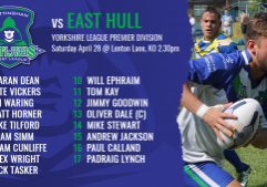 East Hull H team sheets