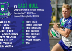 east hull a team sheets