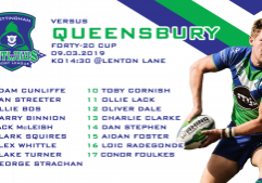 queensbury team sheets