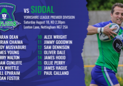 siddal team sheets