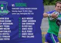 siddal team sheets